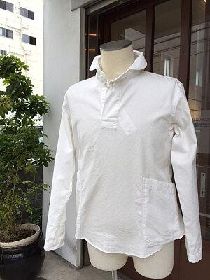 【LOLOロロ】LS-3定番プルオーバーシャツ(オフホワイト)