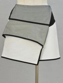 エポカ EPOCA オーガンジー ミニスカート 38サイズ ホワイト×ブラック レディース F-L5431【中古:良品】【ブランド買取販売トリヴァンドラム】180913