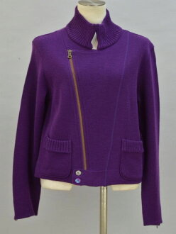 Al vero vero ALBEROBELLO オレボレブラ OLLEBOREBLA knit riders jacket purple Lady's F-L5451181000