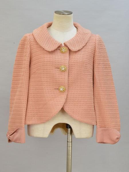 シンシアローリー CYNTHIA ROWLEY ビジューボタン リボン袖 ジャケット 2サイズ ピンク レディース F-L5529【中古:美品】【ブランド買取販売トリヴァンドラム】181007