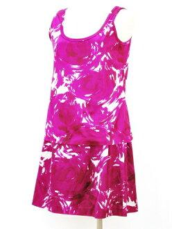 Theory Theory tank top skirt setup 2 size purple whole pattern Lady's F-M5192191205