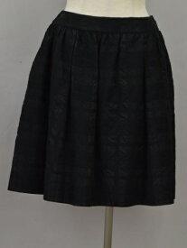 ルネ Rene TISSUE スカート 刺繍 ギャザー 36サイズ ブラック レディース F-L6532【中古:新古品・未使用品】【ブランド買取販売トリヴァンドラム】200813