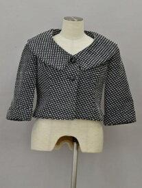 ルネ Rene TISSUE ジャケット 刺繍 34サイズ 濃紺 レディース F-L6535【中古:良品】【ブランド買取販売トリヴァンドラム】200909