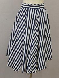 ダブルスタンダードクロージング DOUBLE STANDARD CLOTHING スカート ストライプ 38サイズ 紺×白 レディース F-M12024【中古:美品】【ブランド買取販売トリヴァンドラム】210110