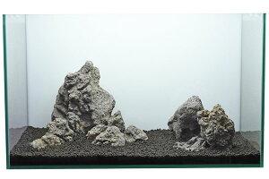 カミハタ アクアリウムロック レイアウトセット 熔山石 45〜75cm水槽用・天然石セット 【水槽との同梱は不可】