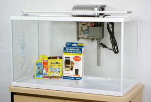 テトラ ホワイトアクアリウム600+LEDライトセット 60cm観賞魚飼育水槽セット