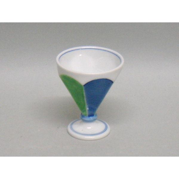 【有田焼 吉右衛門窯】藍緑食前酒【酒器】【杯・盃】【グラス】【あす楽対応】