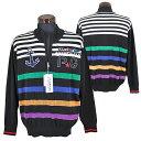 パジェロ■2020春夏■綿ニット ジップアップ セーター(黒)