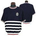 パジェロ■2020春夏■半袖丸首セーター(紺)