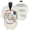パジェロ■2020春夏■半袖ジップアップセーター(白)
