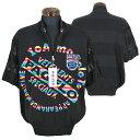 パジェロ■2020春夏■半袖ジップアップセーター(黒)