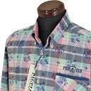 パジェロ■2020春夏■ボタンダウンシャツ(赤系)日本製