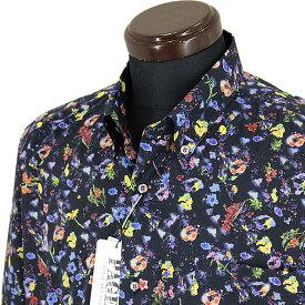 パジェロ■2020春夏■<丈長>ボタンダウンシャツ(紺系)日本製