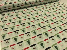 アウトレット30% USAコットン クリスマス スノードーム オフ シャーテイング生地【メール便3m可】2019 生地 布地 綿 コットン