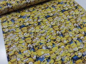 minions ミニオンズいっぱい イエロー オックス生地 g9978【メール便2m可】 キャラクター 生地 布地 綿 コットン 手作り 手芸 ハンドメイド 入園 入学 男の子 女の子