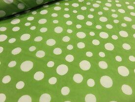 ナイロンオックス ドット水玉 ライトグリーン黄緑 【メール便3m可】 生地 布地 プリント生地 ソーイング 手芸
