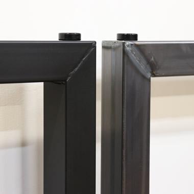 【送料無料】ウォルナットダイニングテーブルダイニングテーブルカフェテーブル鉄脚男前スタイル