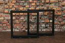 50四角タイプ テーブル脚パーツ 鉄脚 左右セット DIY アイアン アンティーク風インダストリアル ウレタン塗装