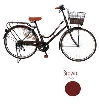 自転車子供乗せ【完成品でお届け】Lupinus(ルピナス)LP-266HA-K-KNR★26インチシティサイクルオートライト後子供乗せ自転車