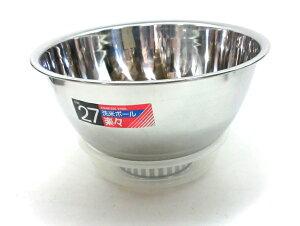 (株)藤井器物製作所18-0 洗米ボール 楽々セット受皿付 27cmJAN:4537982001047