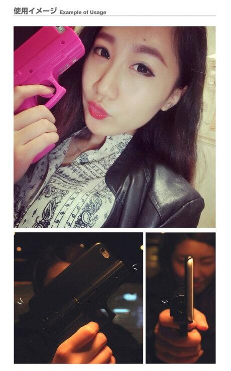 ピストル型iPhoneハードケースブラック・ホワイト・ピンク・ライトピンク