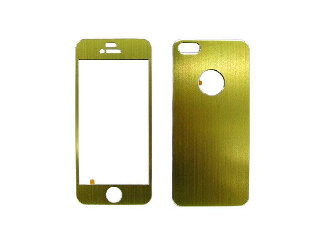 【メール便速達対応】Apple アップル iPhone5対応 デコレーション アルミニウム スキン DECORATED ALUMINUM SKIN 着せ替えスキン LIGHT-GREEN ライトグリーン