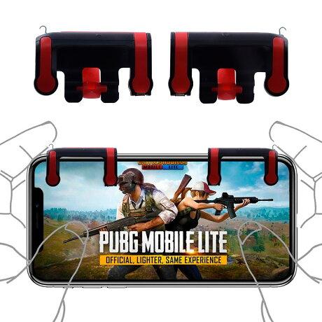 mobile-PRO荒野行動PUBGモバイルコントローラー1セット射撃用ボタン高速射撃メカニカルキーボード感触スマホ用ゲームパッドiOSiPhone/Android