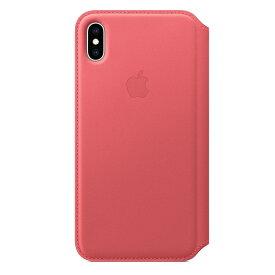 【楽天お買い物マラソン】【ネコポス】【APPLE アップル】【純正】iPhone XS Max用 レザーフォリオケース ピオニーピンク【MRX62FE/A】