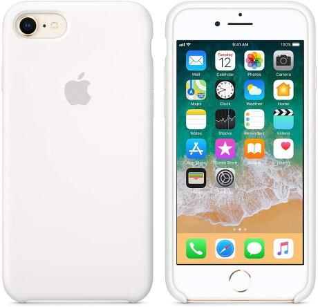 【ネコポス】【APPLEアップル】【純正】iPhone8/7用シリコンケースホワイト【MQGL2FE/A】