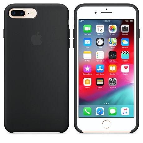 【ネコポス】【APPLEアップル】【純正】iPhone8Plus用シリコーンケースブラック【MQGW2FE/A】