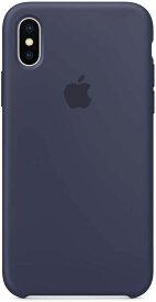 【ネコポス】【APPLE アップル】【純正】iPhone X用 シリコンケース ミッドナイトブルー【MQT32FE/A】