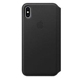 【楽天お買い物マラソン】【ネコポス】【APPLE アップル】【純正】 iPhone XS Max用 レザーフォリオケース ブラック【MRX22FE/A】