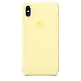 【ネコポス】【APPLE アップル】【純正】iPhone XS Max用 シリコンケース メローイエロー【MUJR2FE/A】