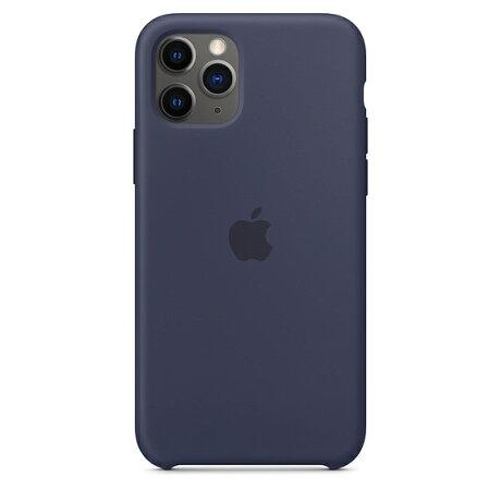【ネコポス】【APPLEアップル】【純正】iPhone11Pro用シリコンケースミッドナイトブルー【MWYJ2FE/A】