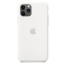 【ネコポス】【APPLE アップル】【純正】iPhone 11 Pro用 シリコンケース ホワイト【MWYL2FE/A】