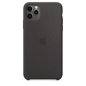 【ネコポス】【APPLE アップル】【純正】iPhone 11 Pro Max用 シリコンケース ブラック【MX002FE/A】