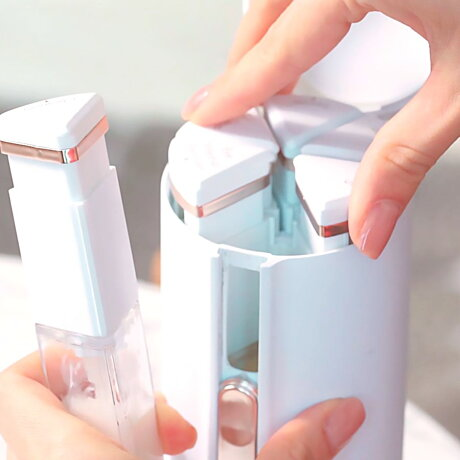トラベルボトル豪華版TICSKIN&SHOWERBOTTLECOMBOV2.0(シャワー+スキン用コンボ全部セット)[日本総代理店]シャンプーや化粧水・クリームをひとまとめ!