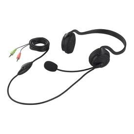 バッファロー iBUFFALO 両耳ネックバンド式ヘッドセット ブラック BSHSN02BK