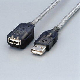 エレコム USBケーブル 延長 マグネット内蔵 USB ( A ) オス-USB ( A ) メス 1.0m グラファイト USB-EAM1GT マグネット内蔵USB延長ケーブル 【 あす楽 】 ELECOM
