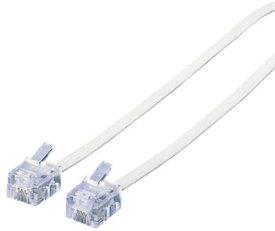 エレコム モジュラーケーブル 15m スリム ホワイト MJ-15WH スリムモジュラケーブル ( 白 ) 1 5m ELECOM