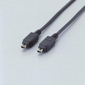 エレコム IEEE1394 FireWireケーブル 400 ( i.LINK・DV ) 4pin-4pin 1.0m ブラック IE-441BK IEEE1394ケーブル ELECOM