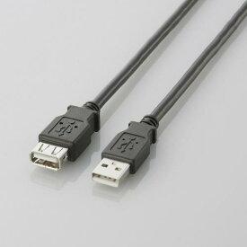 エレコム USB延長ケーブル USB2.0 A-Aメスタイプ 0.5m ブラック U2C-E05BK M USB2.0延長ケーブル ( A-A延長タイプ ) ELECOM