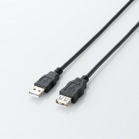 エレコム RoHS指令準拠&環境配慮パッケージ エコUSB延長ケーブル USB2.0 Aオス-Aメスタイプ 5m ブラック U2C-JE50BK M エコUSB2.0延長ケーブル A-Aメスタイプ エコ ブラック ELECOM