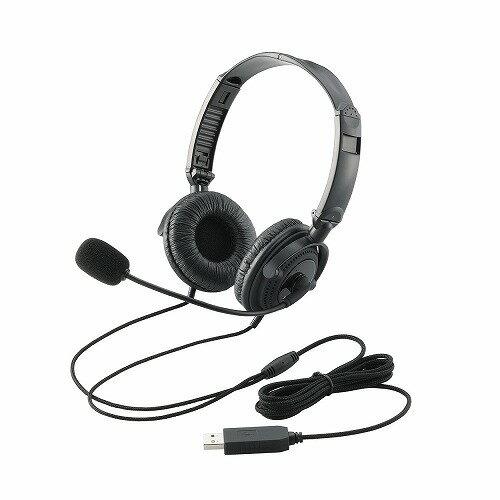 エレコム USBヘッドセット(両耳オーバーヘッド) HS-HP20UBK☆HS-HP20UBK★ 【送料無料】 【あす楽】|1302ELZC^