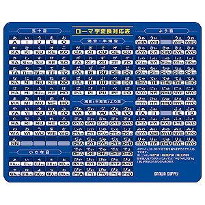 サンワサプライ マウスパッド ( ローマ字、大、ブルー ) マウスパット MPD-OP17RL7BL おまとめセット 【 8個 】 【 あす楽 】