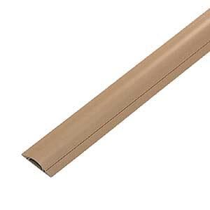 サンワサプライ ケーブルカバー ( ライトブラウン ) CA-R50LBR ケーブルモール 配線カバー 平型 3?4本収納 1m ライトブラウン 重量物が往来する工場などに対応 配線の整理に最適なケーブルカバ