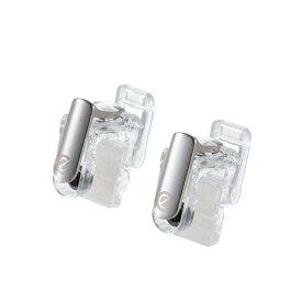 スマホ用ゲームアクセサリ フィンガーボタン 分離型 2ボタン スマホクリーナー付 クリア ELECOM エレコム P-GMFS2B01CR