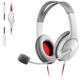 エレコム ELECOM ゲーム向け 4極 両耳オーバーヘッド 1.0m 1.5m延長ケーブル付 PS4 Switch対応 ホワイト HS-GM20WH