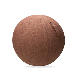 エレコム ELECOM バランスボール カバー 75cm ファブリックカバー インテリア ハンドル付き 持ち運び簡単 ポリエステル ブラウン エクリアスポーツ HCF-BBC75BR