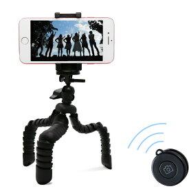 スマートフォン用 / フレキシブル三脚 / Bluetoothリモコン付 / ブラック カメラ関連 ( スマホ ) エレコム ELECOM P-STFLRBK